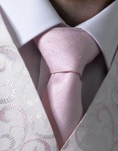 Pink Dupion Tie