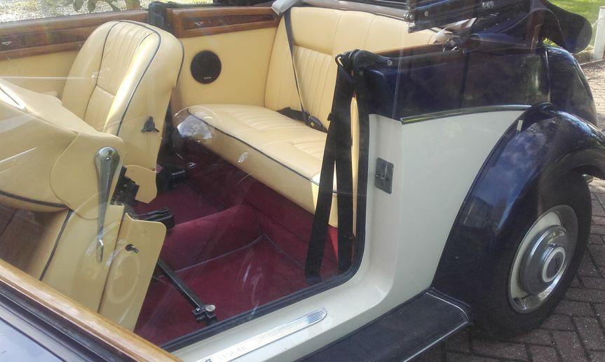 Roomy leather interior