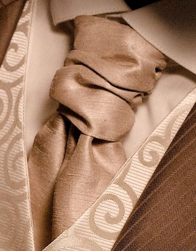 Coffee Dupion Cravat