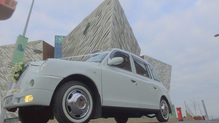 White wedding cabs 17