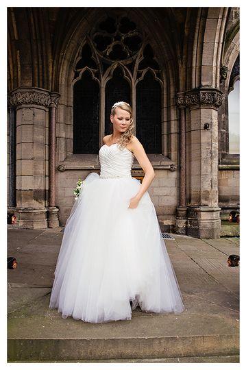 Portrait about the bride