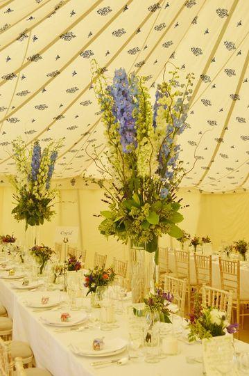 Large garden marquee wedding