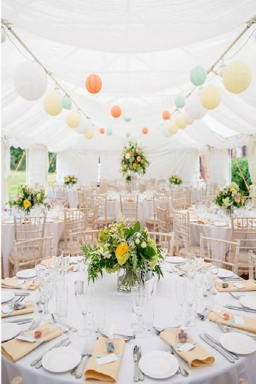 Beautiful marquee decor