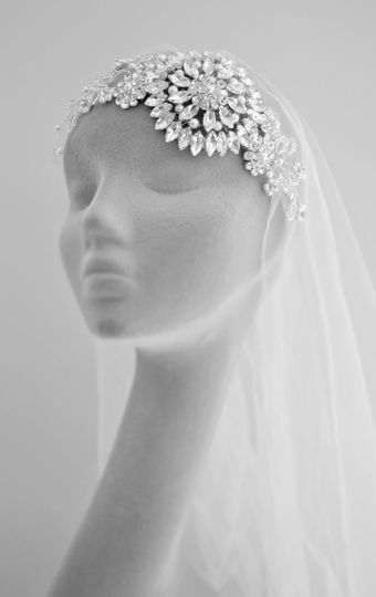 Crystal beaded bridal comb