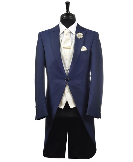 French Navy Slim Morning Suit