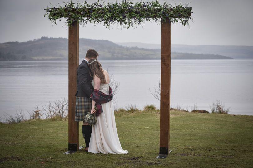 Lochside ceremony