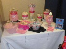 Colour-co ordinated candy buffet