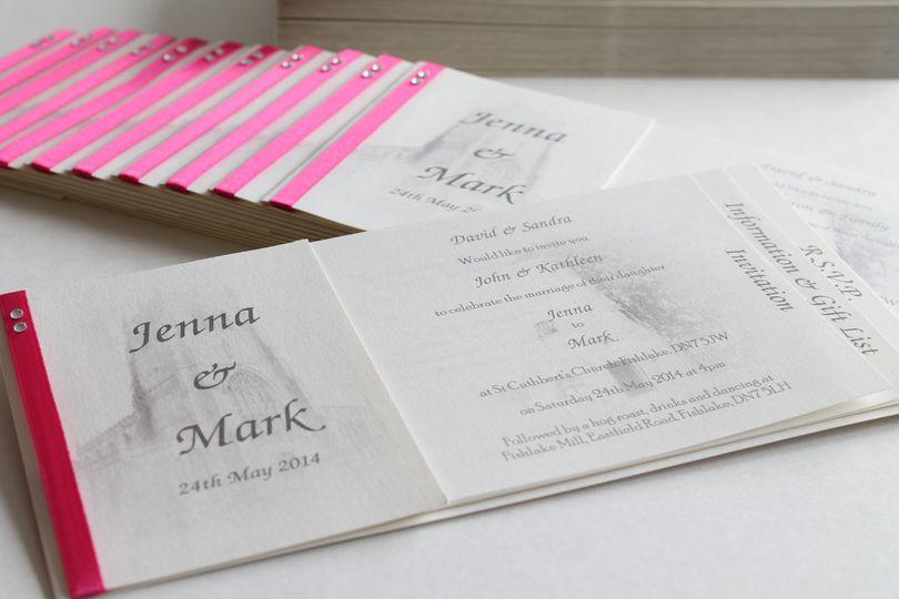 Cheque book wedding invite