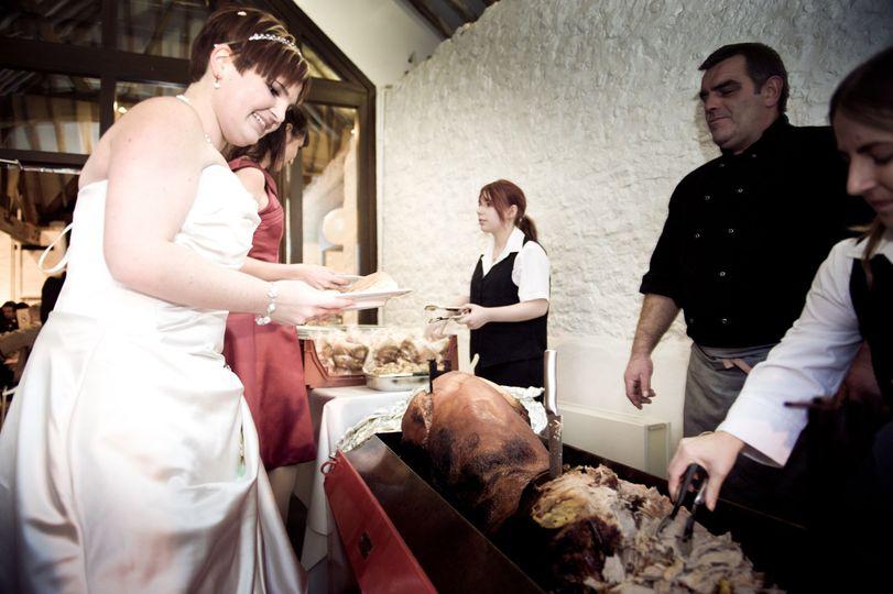 Hog roast wedding