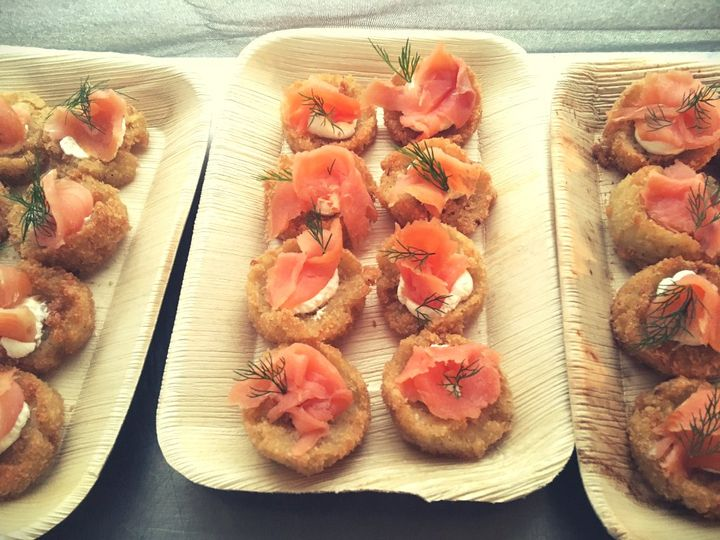 Smoked Salmon Arancini Canape