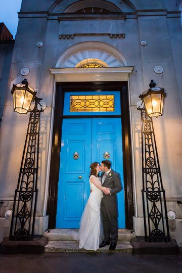 Blue doors at Stationers' Hall