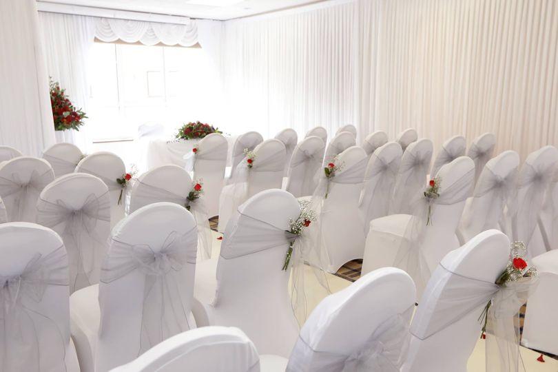 Organza Chair Sash w/ Flowers