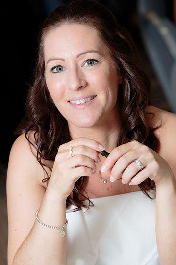 Bride waiting at reception