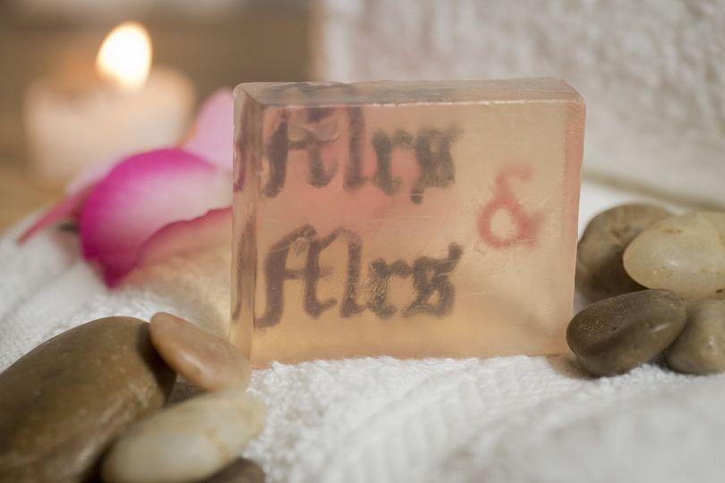 Handmade Mrs & Mrs Soap