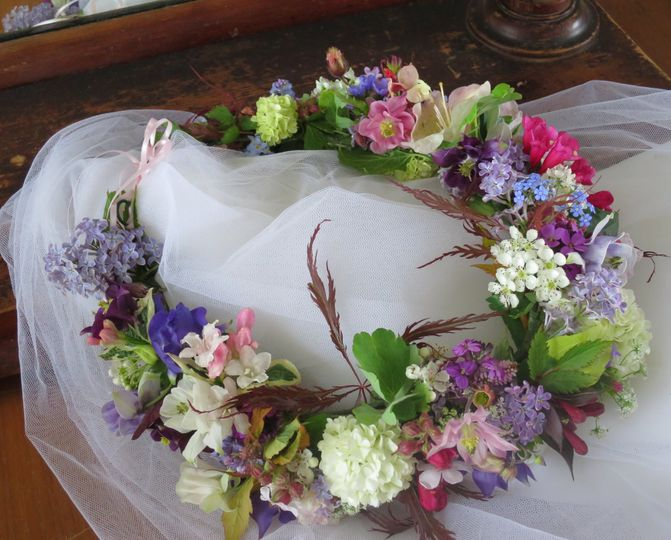 Flower crown for a May bride