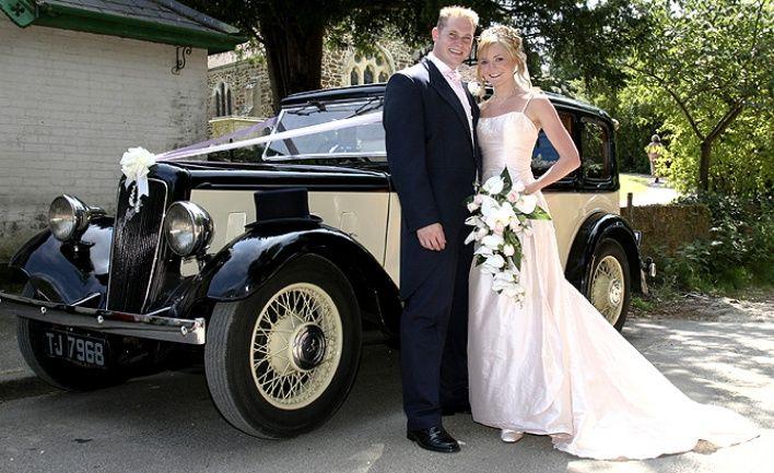 Unique wedding car