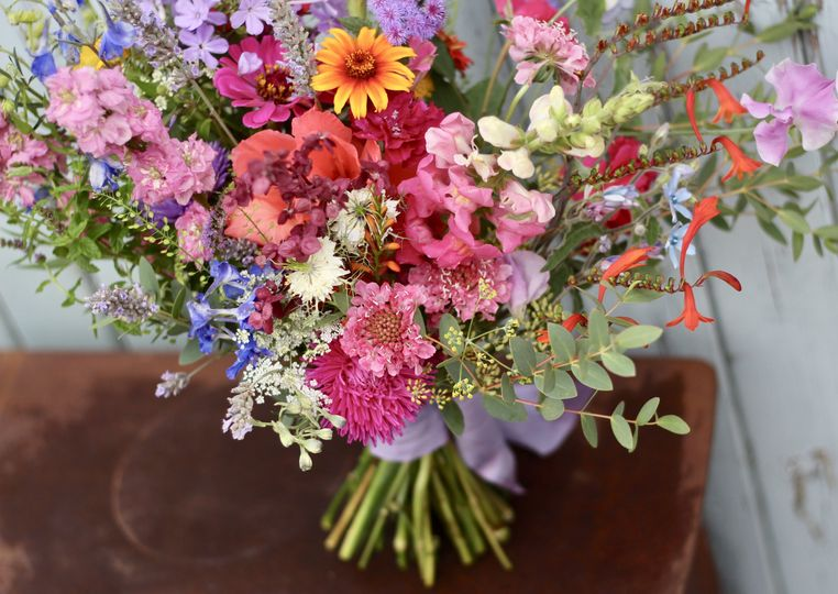 Bright and wild summer bouquet