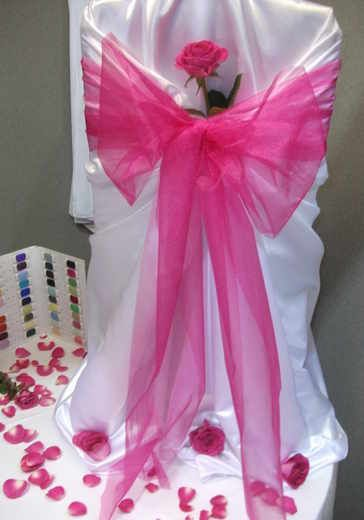 Satin chair cover and sash