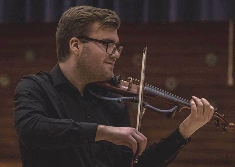 Stuart on the fiddle