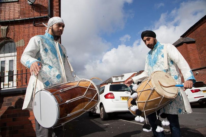 Dhol players in Oldham