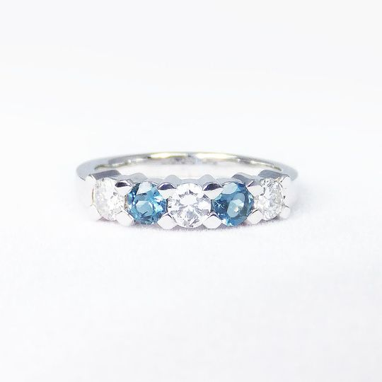 The Occasional Goldsmith sapphire and diamonds