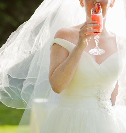 Bride with Cocktail