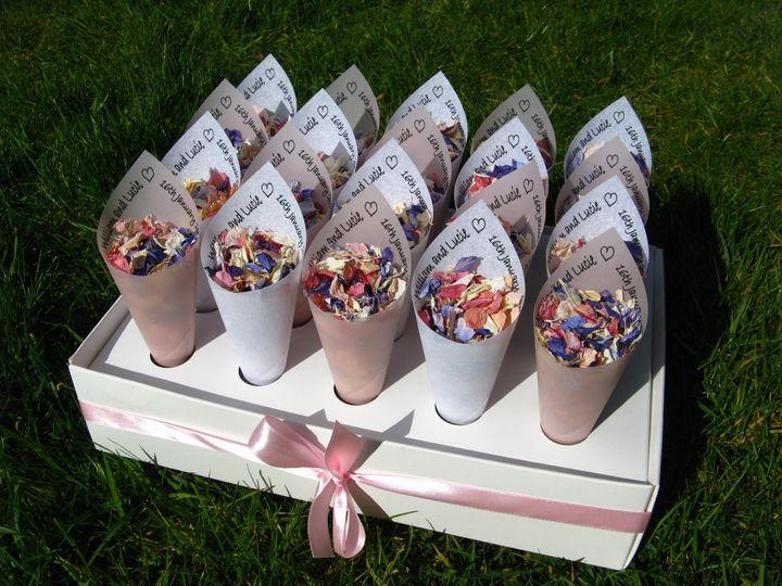Personalised confetti cones