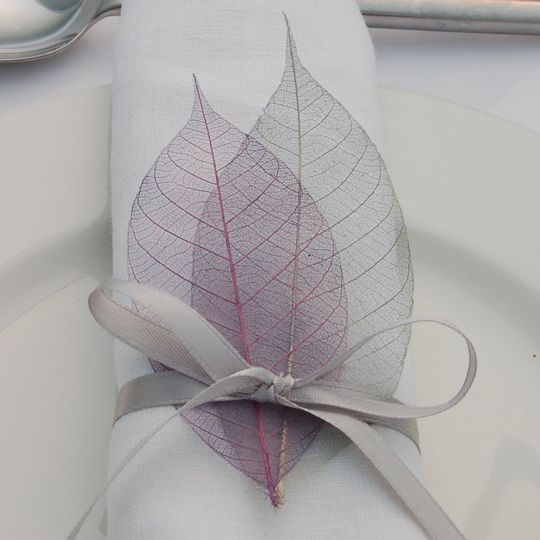 Skeleton leaves and ribbons also available