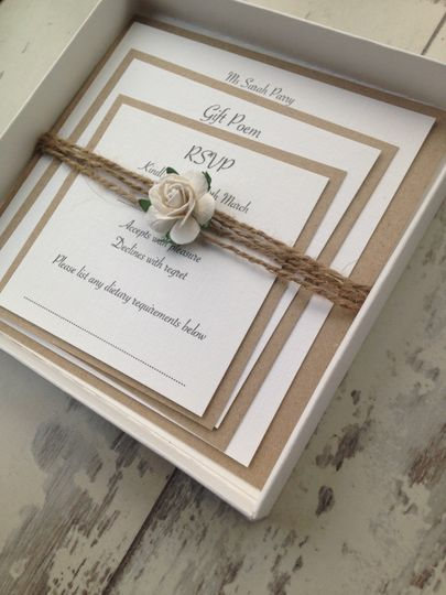 White rose and string square