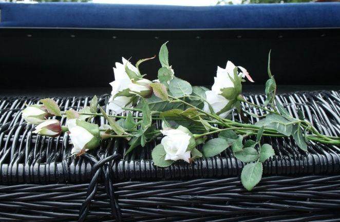 Roses on basket