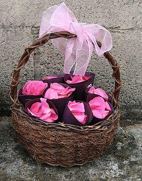 Basket of Fresh Rose Confetti