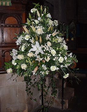 Floral Pedestal within Church