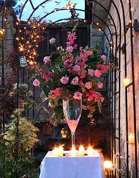 Evening table arrangement