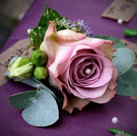 'Memory Lane' Rose Groom's Buttonhole