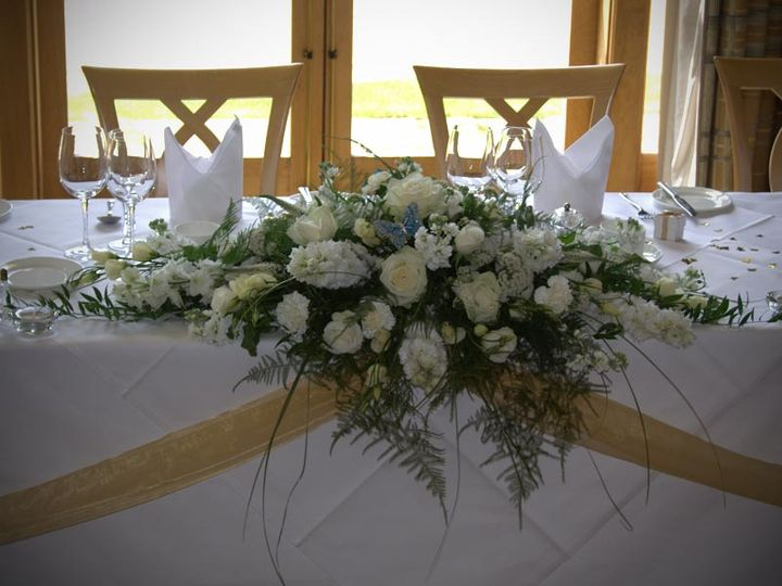 Top-table arrangement for reception at Bowood.