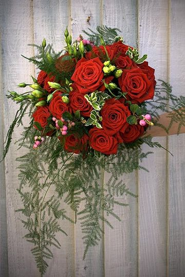 Red Rose hand-tied Bouquet