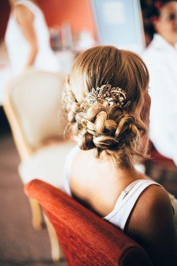 Bridesmaid Hair by Hair by Phi