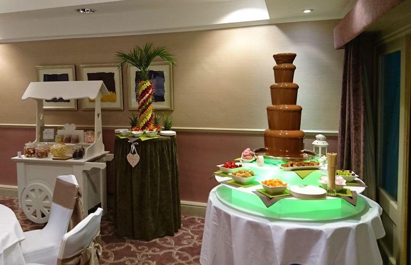 Chocolate Fountain & Palm