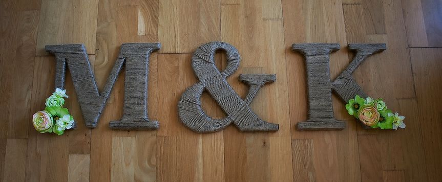 Twine and floral initials set