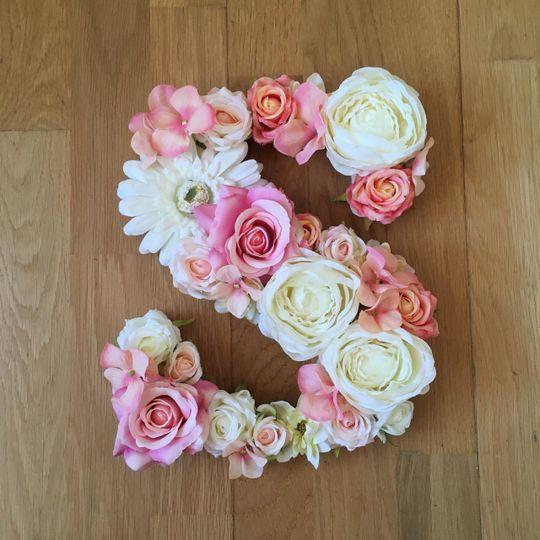 Floral letter