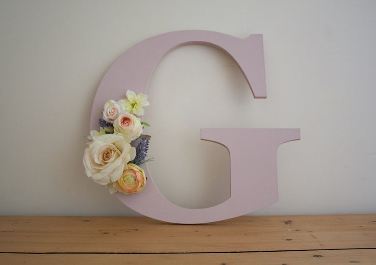 Floral and painted letter