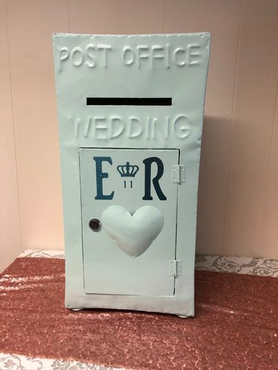 Duck Egg Blue Wedding Post Box
