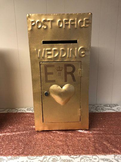 Gold Wedding Post Box Hire