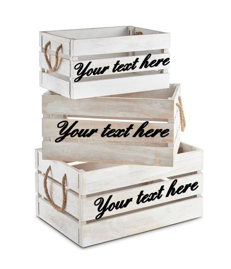 Personalised Crate Hire