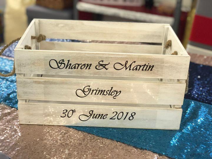 Personalised Wedding Crate Hir