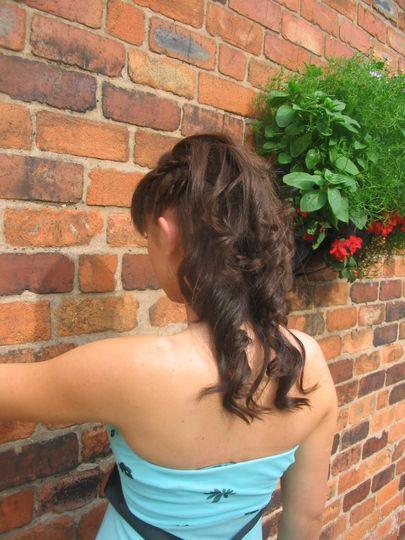 Side plait and curls
