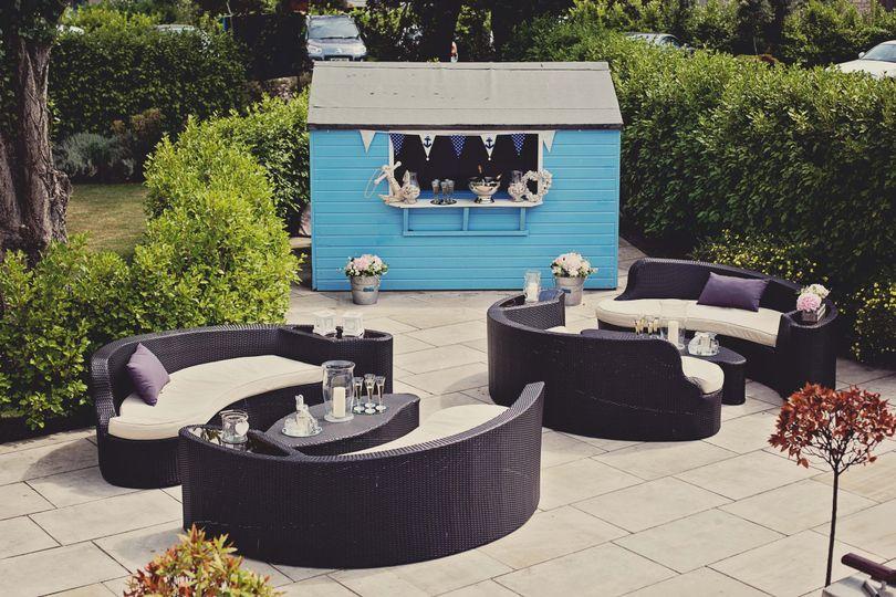 Wedding terrace and bar