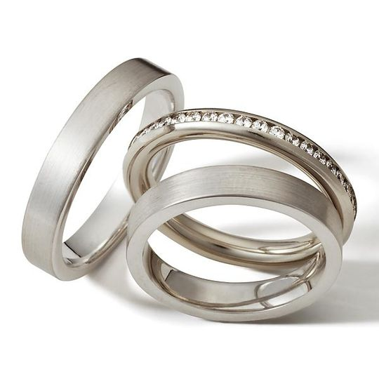 18 carat white gold or platinum - eternity ring
