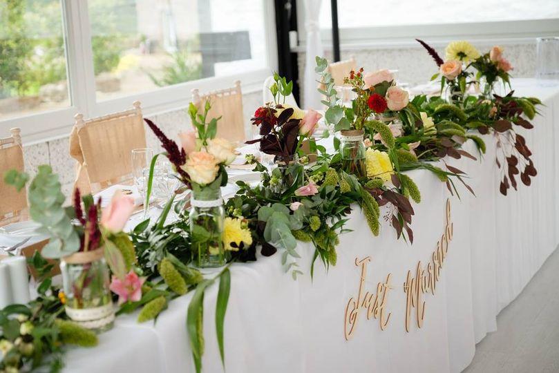 Foliage table arrangement