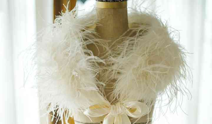 Feather wraps and boleros